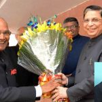 President Ram Nath Kovind with Chief Justice of India Dipak Misra; (inset) Justice SN Shukla of the Allahabad High Court/Photo courtesy: PIB and Allahabad High Court