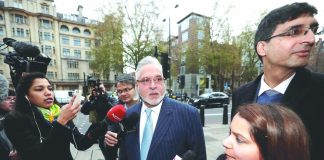 Vijay Mallya at Westminster Magistrates' Court in London. Photo: UNI
