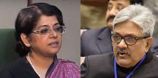 (Left) Senior Advocate Indu Malhotra and Justice K M Joseph
