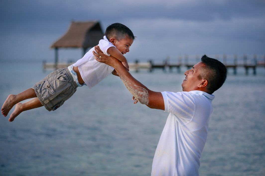 Above: A representative image of a father and son