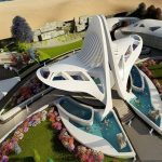 An artist's impression of the proposed Jayalalithaa memorial on Marina Beach/Photo: UNI