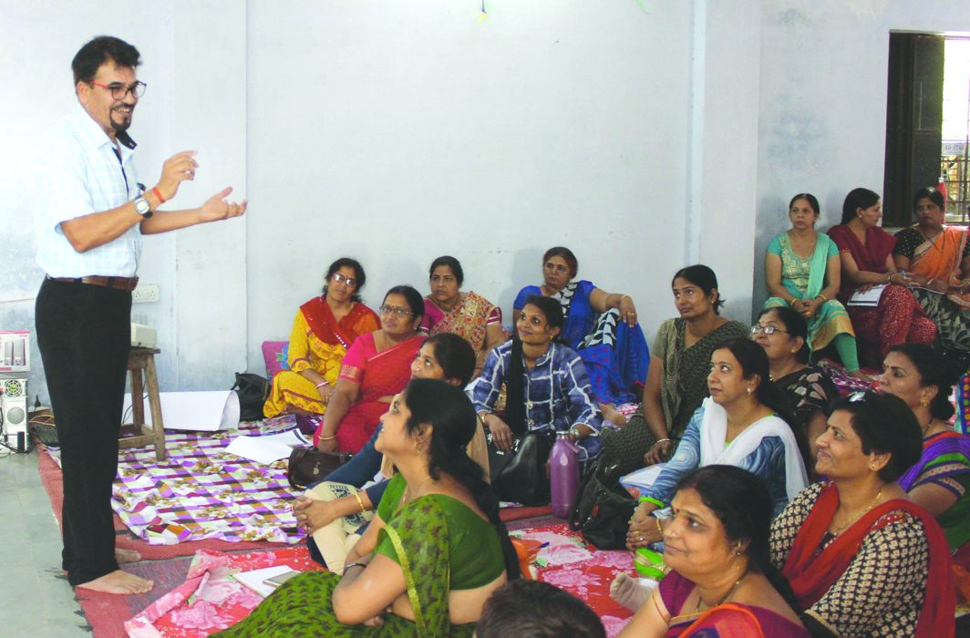 Rajasthan government employees at a workshop on education/Photo: UNI