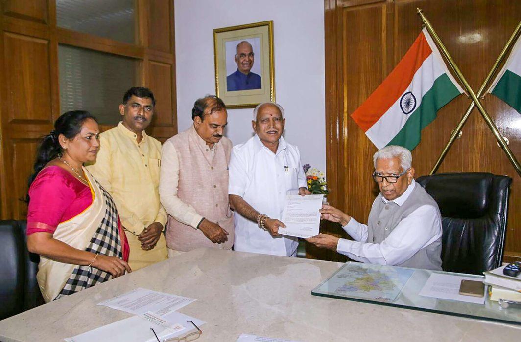 With a SC sword over the Karnataka CM's chair, Yeddyurappa takes charge