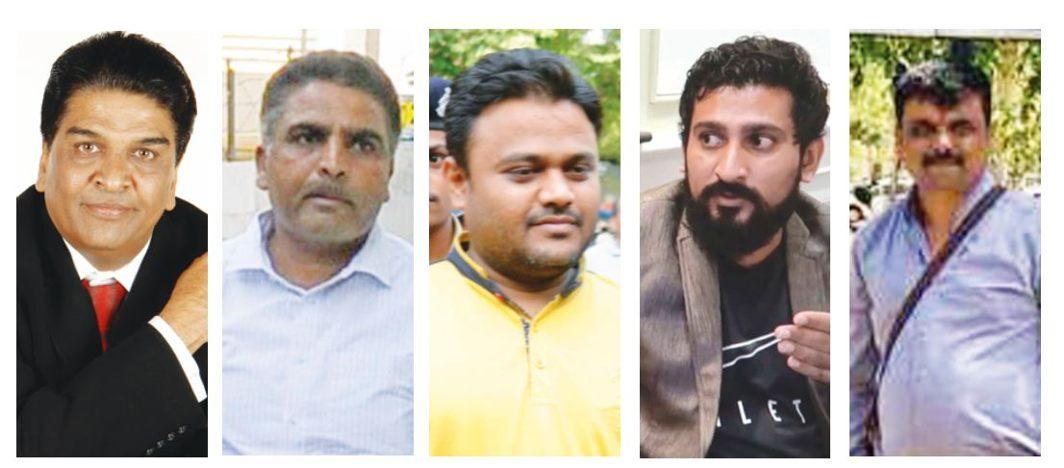 (L-R) Divyesh Darji, Jagdish Patel (SP), Kirat Paladiya, Satish Kumbhani and Sailesh Bhatt