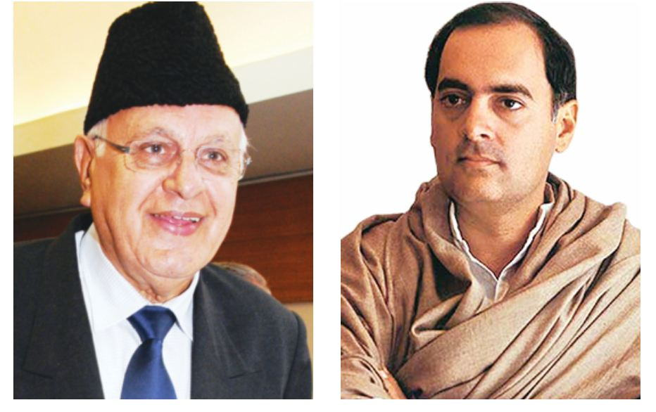 The accord between Farooq Abdullah (left) and PM Rajiv Gandhi in 1986 was driven by selfish ends