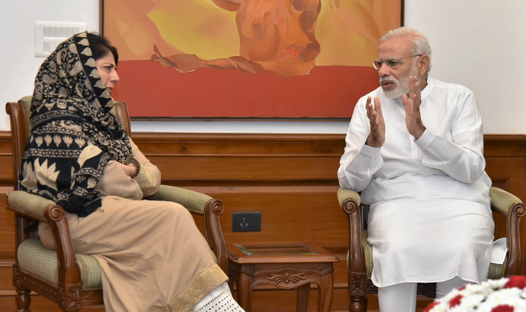 """The BJP will project PM Modi as the """"iron man"""" of India who sacrificed his party's interest by withdrawing support to ruling coalition partner PDP/Photo: UNI"""