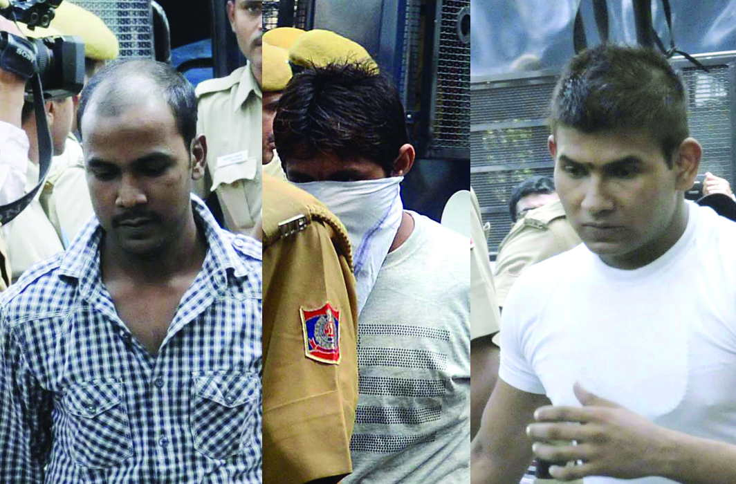 (L-R) Mukesh Singh, Pawan Gupta and Vinay Sharma are the three convicts who filed the review petition