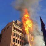 A building up in flames after a fire broke out (representative image)/Photo: UNI