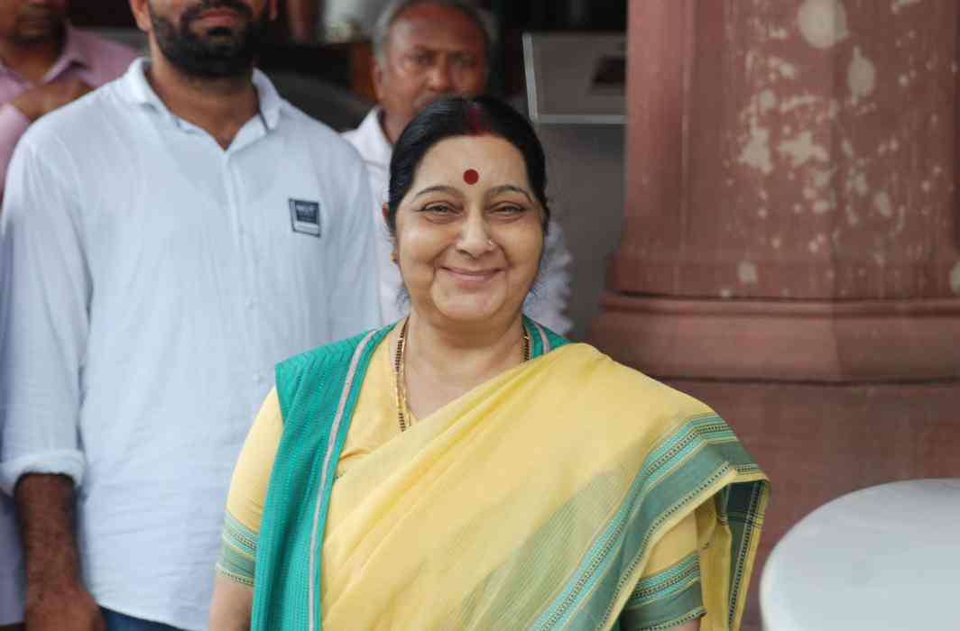 Union minister Sushma Swaraj was trolled for taking measures to ensure that interfaith couples get their passports/Photo: UNI