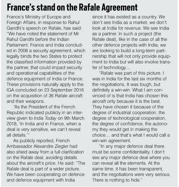 Rafale Deal: Damage of Secrecy