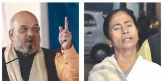 (L-R) BJP president Amit Shah and West Bengal CM Mamata Banerjee