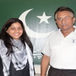 Musharraf with Rajshri Rai at his Dubai apartment