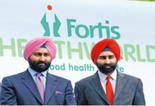 Estranged brothers Shivinder (right) and Malvinder Singh