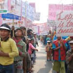 An awareness rally on World Leprosy Day. Patients in India continue to be denied education and treatment to this day/Photo: leprosymission.org