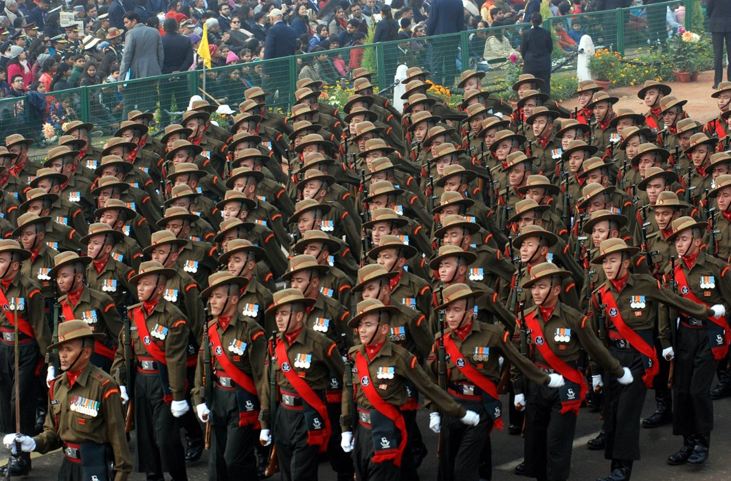 Re-strategising of the armed forces must be as per the threat perception/Photo: UNI