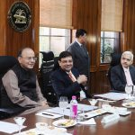 Union Finance Minister Arun Jaitley and RBI Governor Urjit Patel at an RBI meeting/Photo: UNI