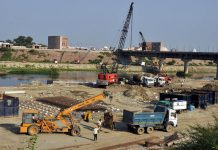 Gomti Riverfront project in Lucknow (file pic)/Photo: UNI