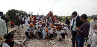 Gujjars staging a protest demanding 5 percent reservation on Feb 9/Photo: twitter