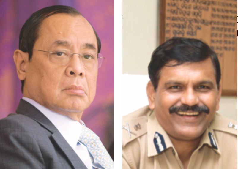 CJI Ranjan Gogoi (left) had recently ordered former interim director, CBI, M Nageswara Rao (right) and the agency's legal adviser to sit in a corner of the courtroom till it rose for the day