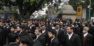 Advocates at the Patiala House Courts in New Delhi/Photo: Anil Shakya