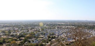An aerial view of Chittorgarh city. The NGT ban on mining aims to improve the air quality/Photo: chittorgarh.com