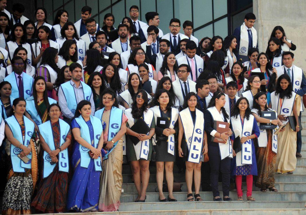 Convocation ceremony of the students of GNLU, Gandhinagar, Gujarat/Photo: UNI