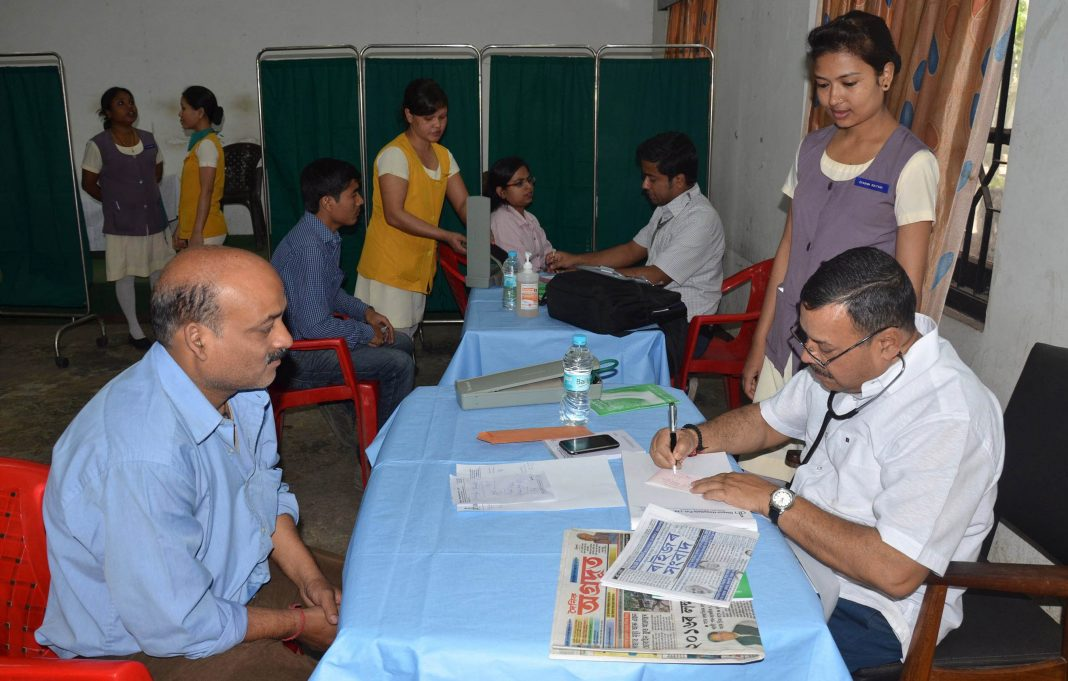 A free general health check-up camp organised by Dispur Hospital, Guwahati/Photo: UNI