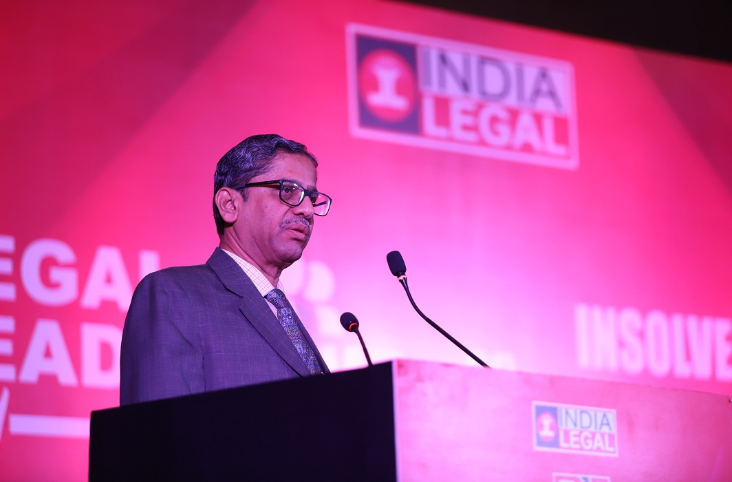 Justice N V Ramana delivering the inaugural address at Legal Leadership Conclave/Photo: Anil Shakya