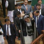 President Mohammad Ashraf Ghani (waving) at the consultative loya jirga in Kabul/Photo: UNI