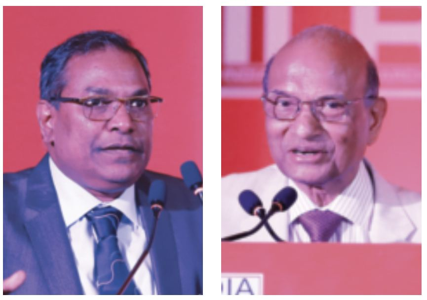 (L-R) Ravi Kumar Duraisamy (member NCLT) and former SCBA president PH Parekh at the second Technical Session