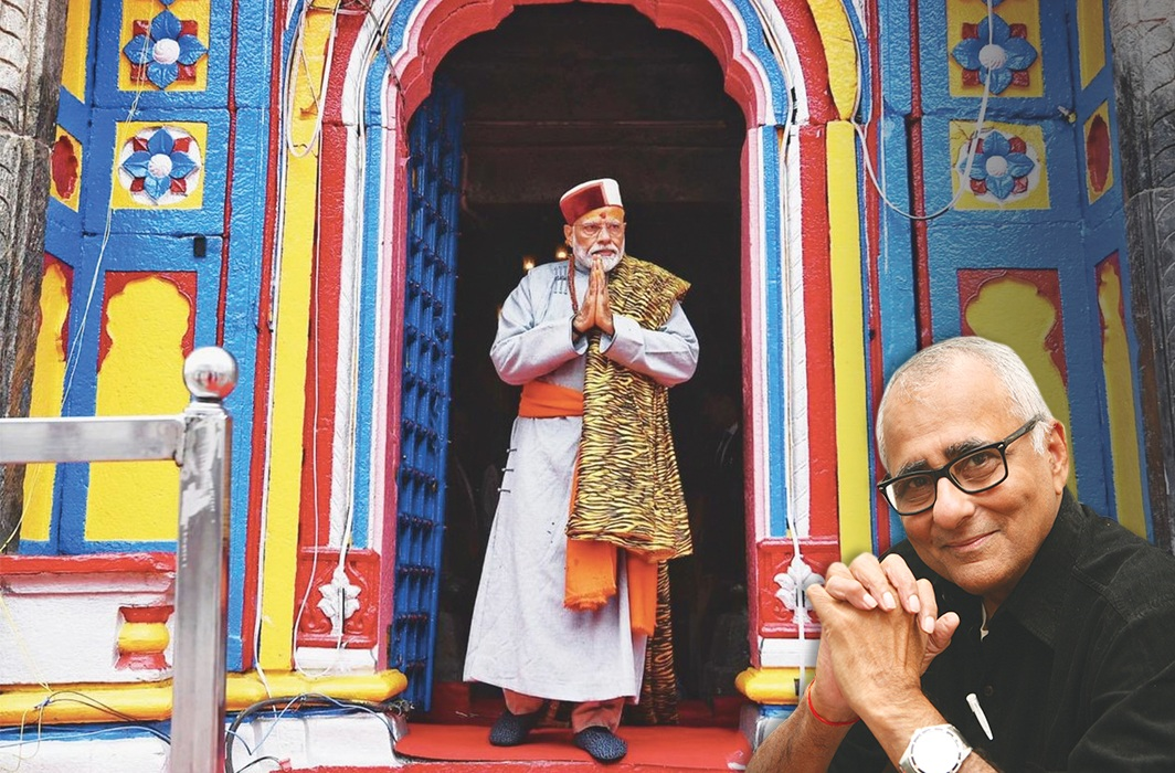 PM Narendra Modi coming out of the Kedarnath Temple during his recent two-day pilgrimage to Himalayan shrines in the Rudraprayag district of Uttarakhand/Photo: UNI