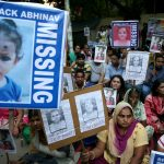 Protest in New Delhi over missing children
