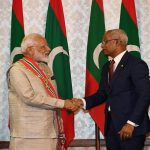 Prime Minister Narendra Modi meeting the President of Maldives Ibrahim Mohamed Solih in Maldives/Photo courtesy: PMO