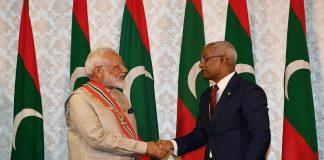 Prime Minister Narendra Modi meeting the President of Maldives Ibrahim Mohamed Solih in Maldives/Photo courtesy: PMO