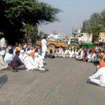 Sikhs sitting on dharna over the 2015 sacrilege of the holy book in Tarn Taran/Photo: UNI