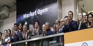 Kerala Chief Minister Pinarayi Vijayan launching the Masala bonds at the London Stock Exchange/Photo: lseg.com