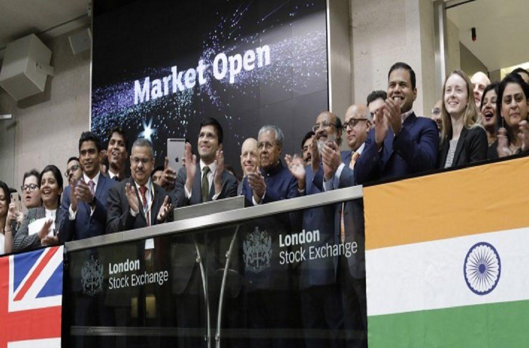Kerala Chief Minister Pinarayi Vijayan launching the Masala bonds at the London Stock Exchange/Photo: lseg.com