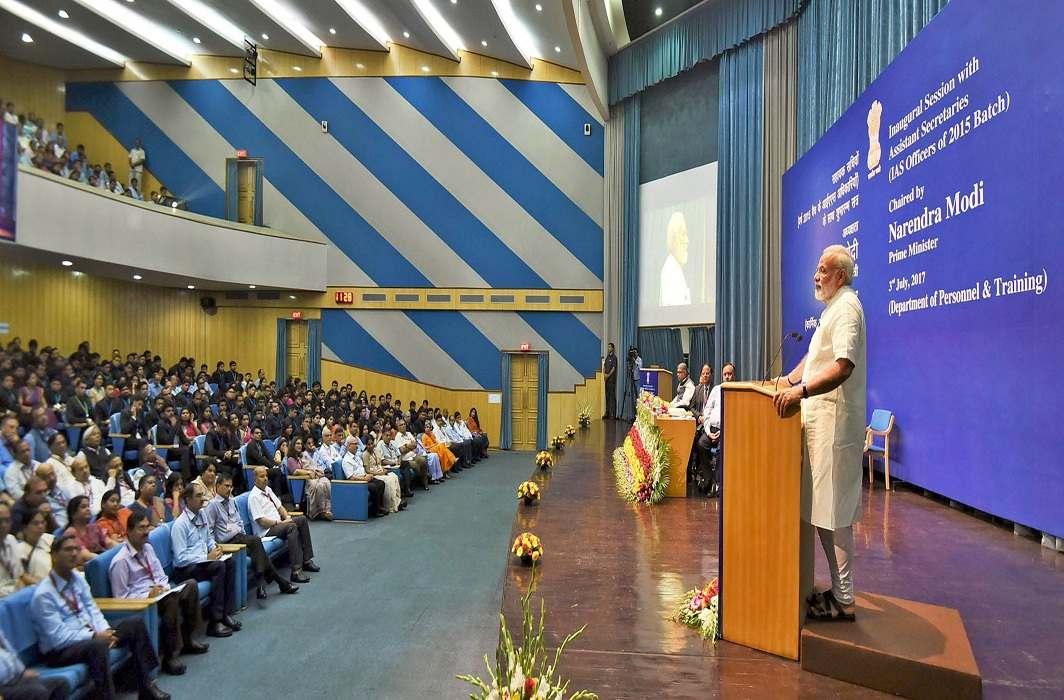 Prime Minister Modi at an inaugural session of assistant secretaries in New Delhi/Photo: UNI