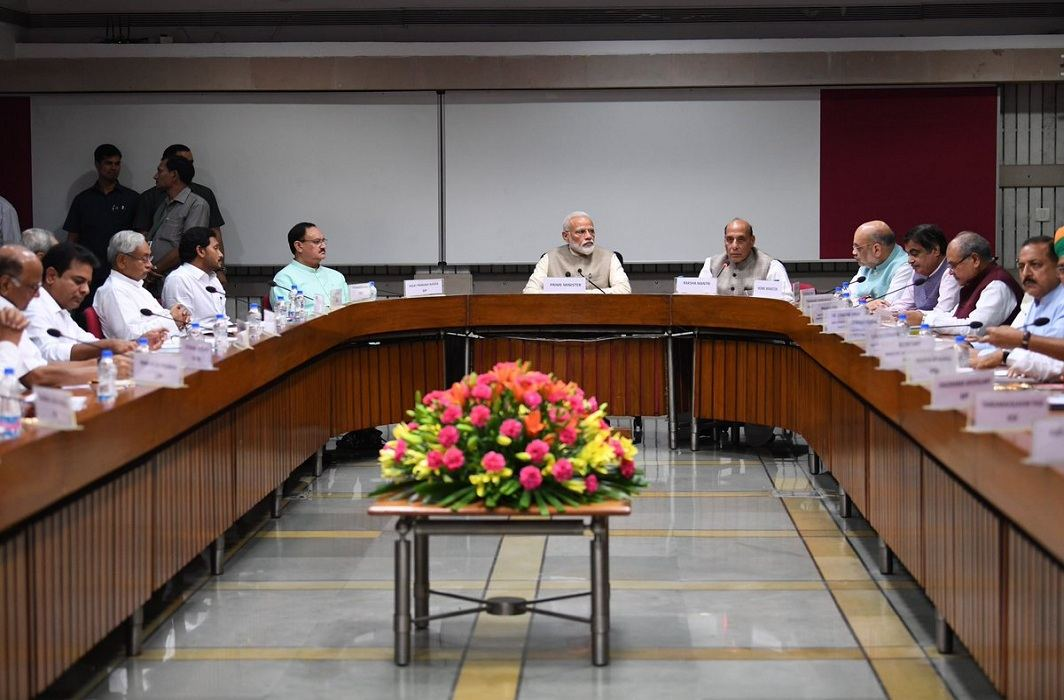Prime Minister Narendra Modi at an all-party meeting to discuss One Nation, One Election in New Delhi/@narendramodi/twitter.com