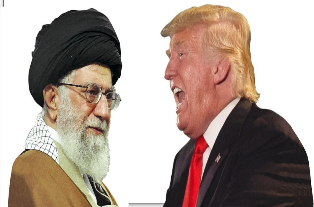 The sanctions on Iran by US President Donald Trump targeted Supreme Leader Ayatollah Ali Khamenei (left), among others