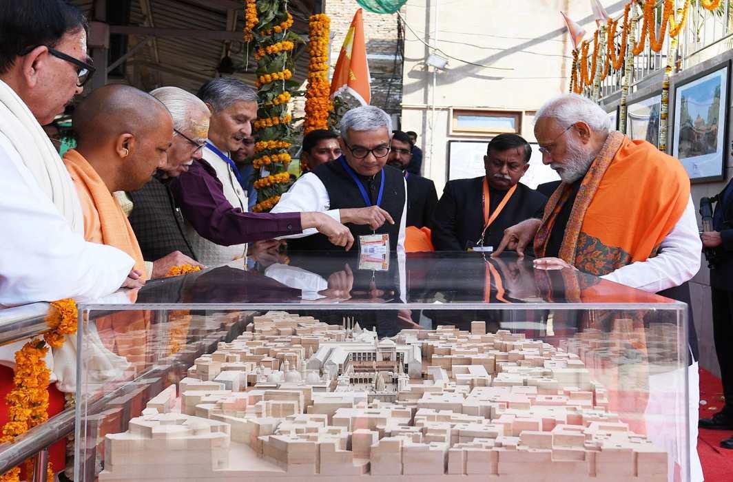 Prime Minister Modi at the foundation stone laying ceremony of the Kashi corridor project/Photo: UNI