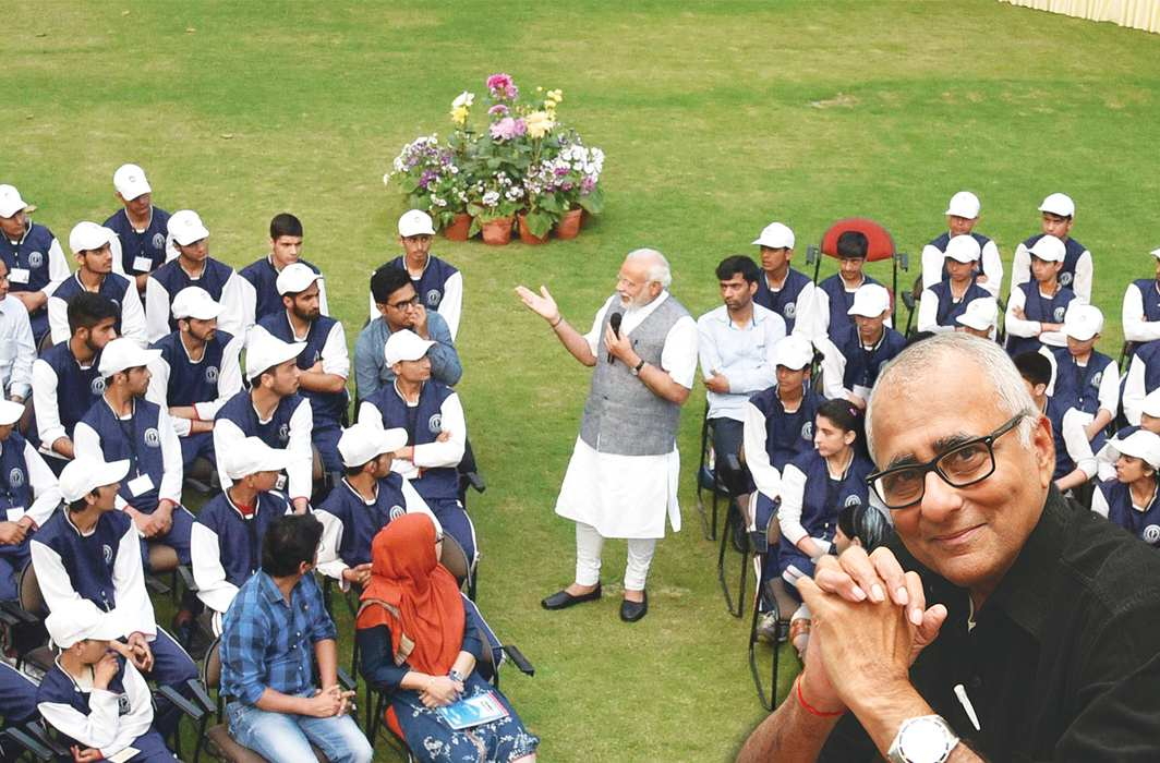 Prime Minister Narendra Modi interacting with a group of youth and children from J&K in New Delhi in February 2017/Photo: UNI