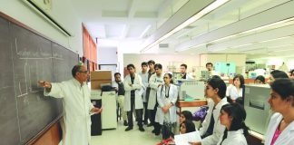 A class in a medical college. Training would-be doctors is a key component of public health/Photo: akdn.org
