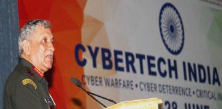 Army chief General Bipin Rawat addressing a seminar on cyber security in New Delhi/Photo: UNI