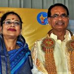 Former CM Shivraj Singh Chouhan and his wife, Sadhna Singh/Photo: UNI