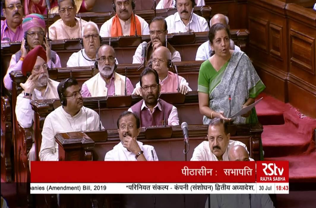 FM Nirmala Sitharaman justified the new CSR norms in the Companies (Amendment) Bill, 2019, in the Rajya Sabha