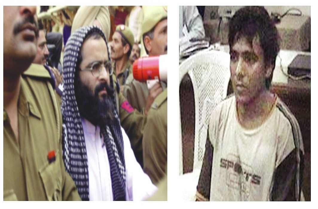 (L-R) Afzal Guru was deprived of his right to effective legal aid; lawyers in India had also refused to defend Ajmal Kasab