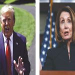 Speaker Nancy Pelosi (right) has launched an impeachment inquiry against Trump/Photos: UNI