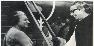 Sheikh Mujibur Rahman with then Prime Minister of India Indira Gandhi/Photo: mofagovbd