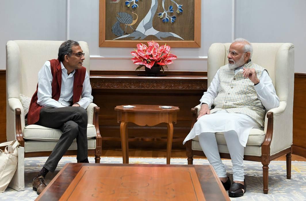 Nobel laureate Abhijit Banerjee with Prime Minister Narendra Modi in New Delhi/Photo: PIB